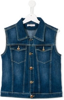 Dondup Kids - denim gilet - kids - Cotton/Polyester/Spandex/Elastane - 14 yrs