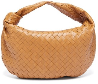 Bottega Veneta Jodie Small Intrecciato Leather Shoulder Bag - Tan