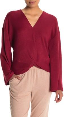 Lush Front Twist Knit Sweater