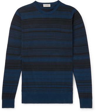 John Smedley Slim-Fit Striped Sea Island Cotton Sweater