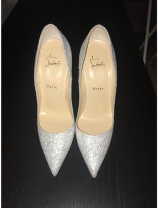 Christian Louboutin So Kate White Glitter Heels