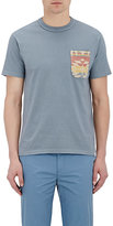 Visvim Men's Patch-Pocket T-Shirt-BLUE
