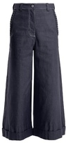 House of Holland High-rise star-detail wide-leg jeans