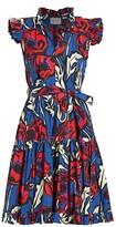 La DoubleJ Edition 20 Short & Sassy Floral Cap-Sleeve A-Line Shirtdress