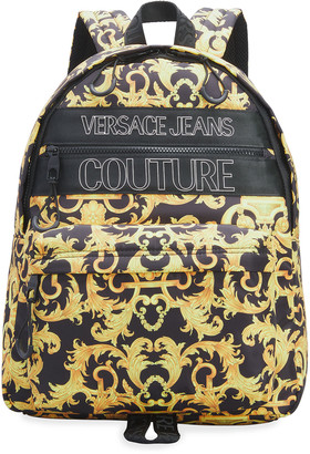 Versace Jeans Couture Men's Barocco-Print Nylon Zip-Around Backpack