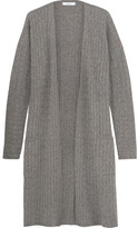 Max Mara Azulene Cable-knit Wool And Cashmere-blend Cardigan - Light brown