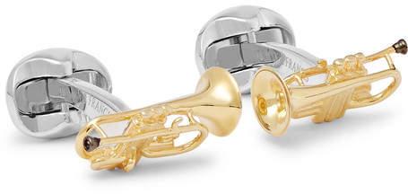 Deakin & Francis Trumpet Gold-Plated Sterling Silver Cufflinks