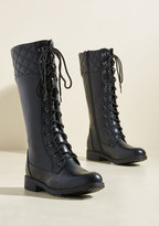 Yoki Fashion International Quest Foot Forward Boot in Licorice