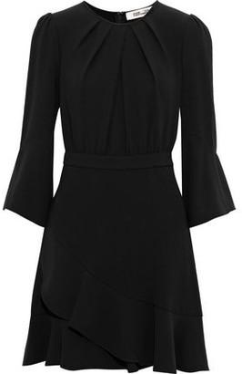 Diane von Furstenberg Rosina Ruffle-trimmed Crepe Mini Dress