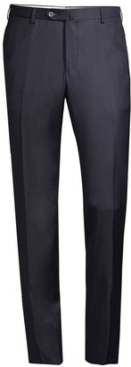 Isaia Solid Wool Trousers