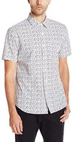 Jack Spade Men's Clift Point Collar Floral Print