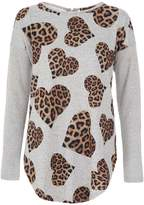Quiz *Quiz Leopard Heard Print Knitted Top