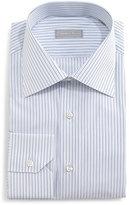 Stefano Ricci Fancy-Striped Dress Shirt, Blue