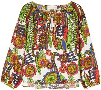 La Prestic Ouiston Martin printed silk blouse