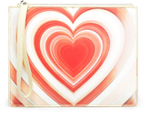 Christopher Kane Lenticular-heart leather pouch