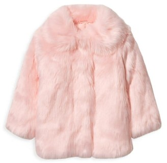 Janie and Jack Baby's, Little Girl's & Girl's Faux Fur Coat