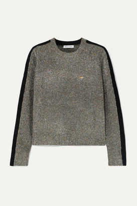 Bella Freud Teeny Bopper Cropped Metallic Knitted Sweater - Green