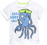 H&M T-shirt with Printed Design - White/octopus - Kids
