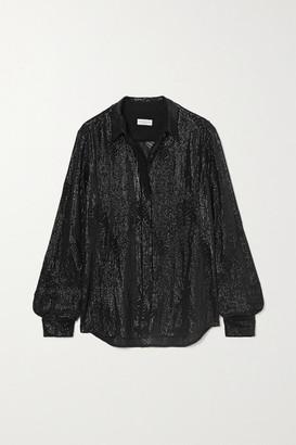 Dries Van Noten Sequined Chiffon Shirt - Black