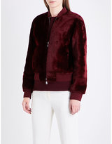Theory Stand-collar shearling bomber jacket