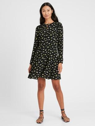 Banana Republic Petite Puff-Sleeve Mini Dress