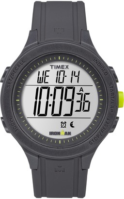Timex Men's TW5M14500 Ironman Essential 30 Black/Lime Silicone Strap Watch