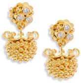 Temple St. Clair Large Pod Diamond & 18K Yellow Gold Earrings