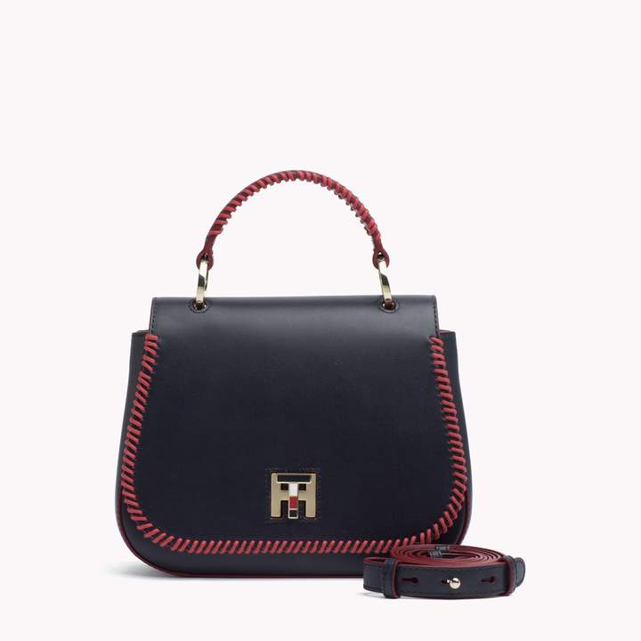 Tommy Hilfiger Leather Topstitched Crossbody Bag