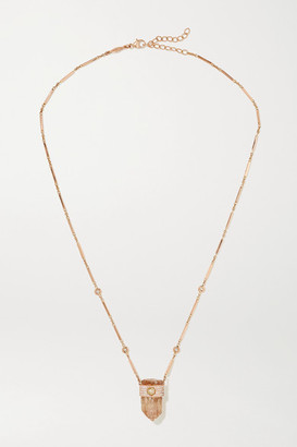 Jacquie Aiche 14-karat Rose Gold, Topaz And Diamond Necklace - one size