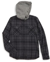 Quiksilver Toddler Boy's Hooded Plaid Woven Shirt
