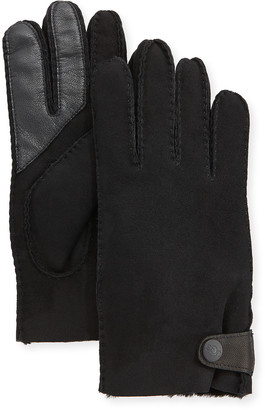 UGG Men's Side-Tab Shearling-Lined Gloves