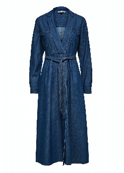 Selected Miranda Midi Dress - Denim - Size 34 (UK 8)