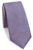 611 Saks Fifth Avenue New York Textured Silk Tie