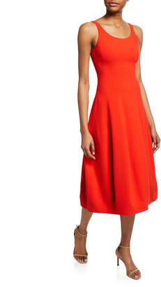 Halston Sleeveless Scoop-Neck Fit-&-Flare Dress