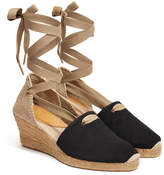 Penelope Chilvers 'Valenciana' Black Suede Wedge Espadrille