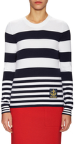 Love Moschino Striped And Logo Patch Sweater