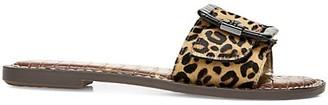 Sam Edelman Granada Flat Leopard-Print Calf Hair Sandals
