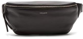Saint Laurent Logo-printed Leather Belt Bag - Mens - Black