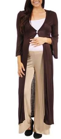 Women`s Maternity One Button Maxi Jacket