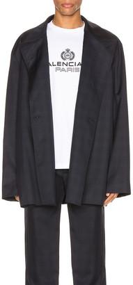 Balenciaga Flap Jacket in Dark Navy   FWRD