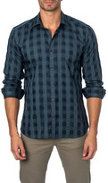 Jared Lang Long Sleeve Checked Semi-Fitted Shirt