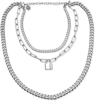 Opes Robur Silver Triple Layer Chain