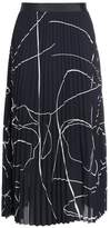 Filippa K Pleated skirt stormy flowers