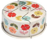 Dotcomgiftshop Mid Century Poppy Cake Carrier Tin (Pack of 6)