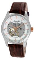 Kenneth Cole Automatic Skeleton Brown Leather Strap Watch, 10027198