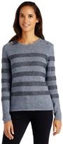 J.Mclaughlin Randy Sweater in Metallic Stripe