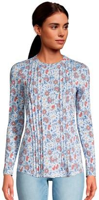 Lands' End Women's Pintuck Tunic Shirt