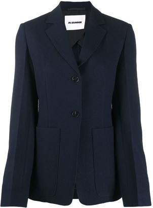 Jil Sander Single-Breasted Fitted Blazer