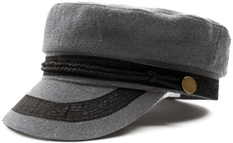 HowYouth Womens Ladies Girls Wool Blend Classic Mariner Breton Cap/Fiddler Cap/Braid Cap/Greek Fisherman Cap/Sailors Cap Unisex Hat (Lace Grey)