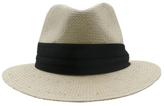 Morgan & Taylor Fedora With Black Trim Summer Hats
